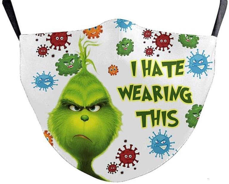 Grinch Stole Christmas 3D Print Cosplay face Masks reusable washable dust proof cute fashion face mask by dhl