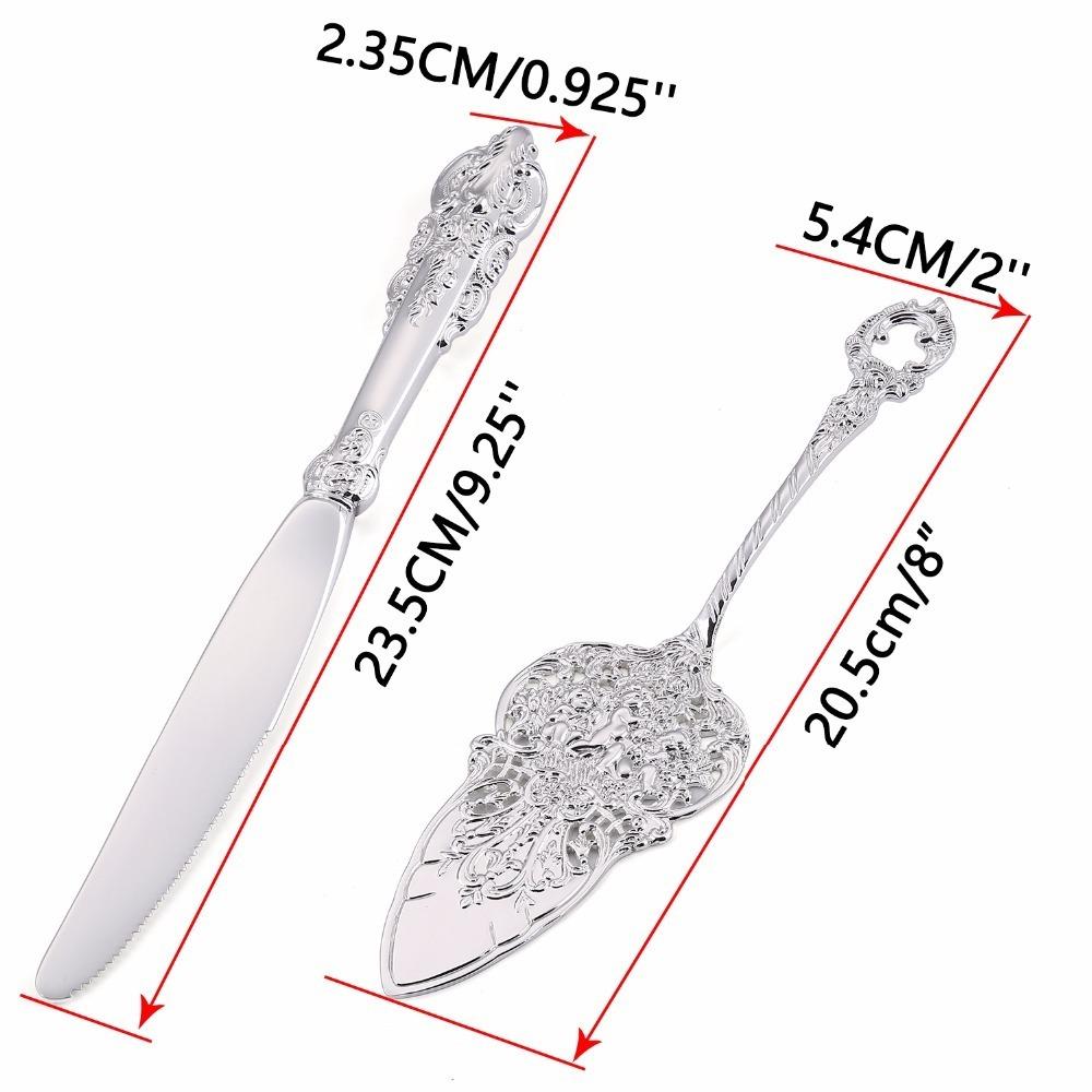 silver cake shovel knife set (3)