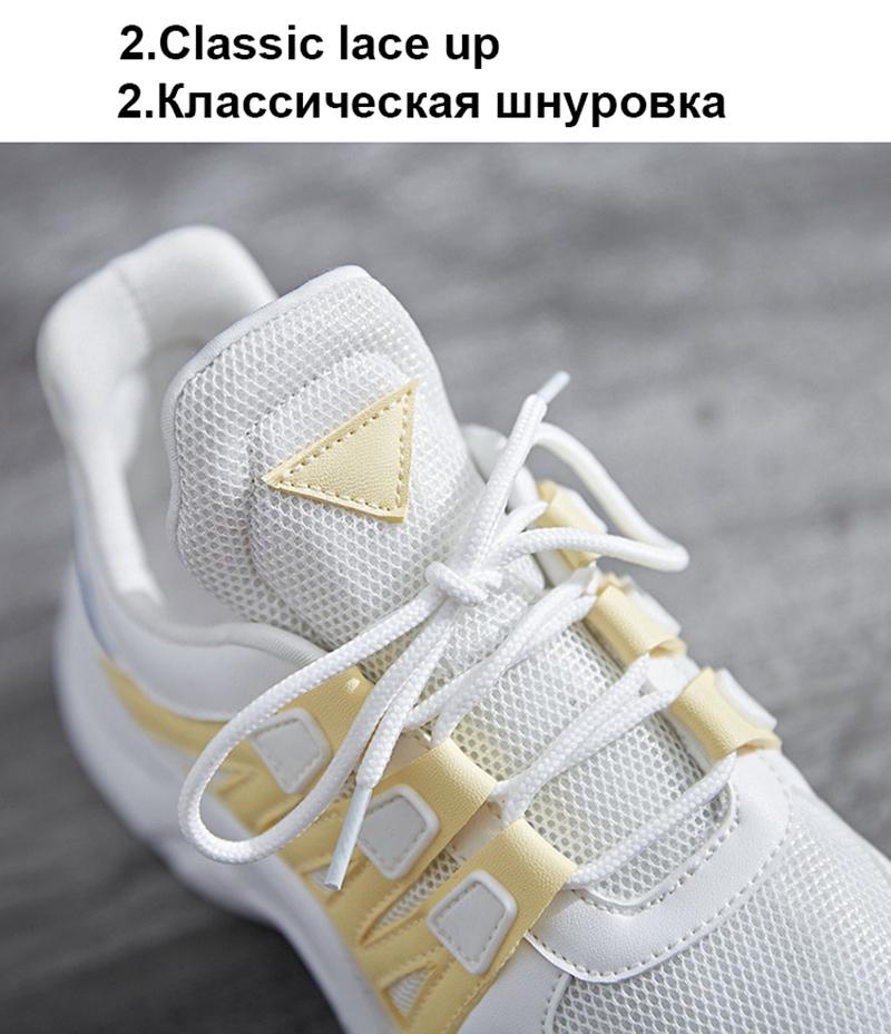 TEMOFON women chunky sneakers women casual vulcanize shoes casual fashion white ladies shoes plus size deportivas mujer HVT602 (26)