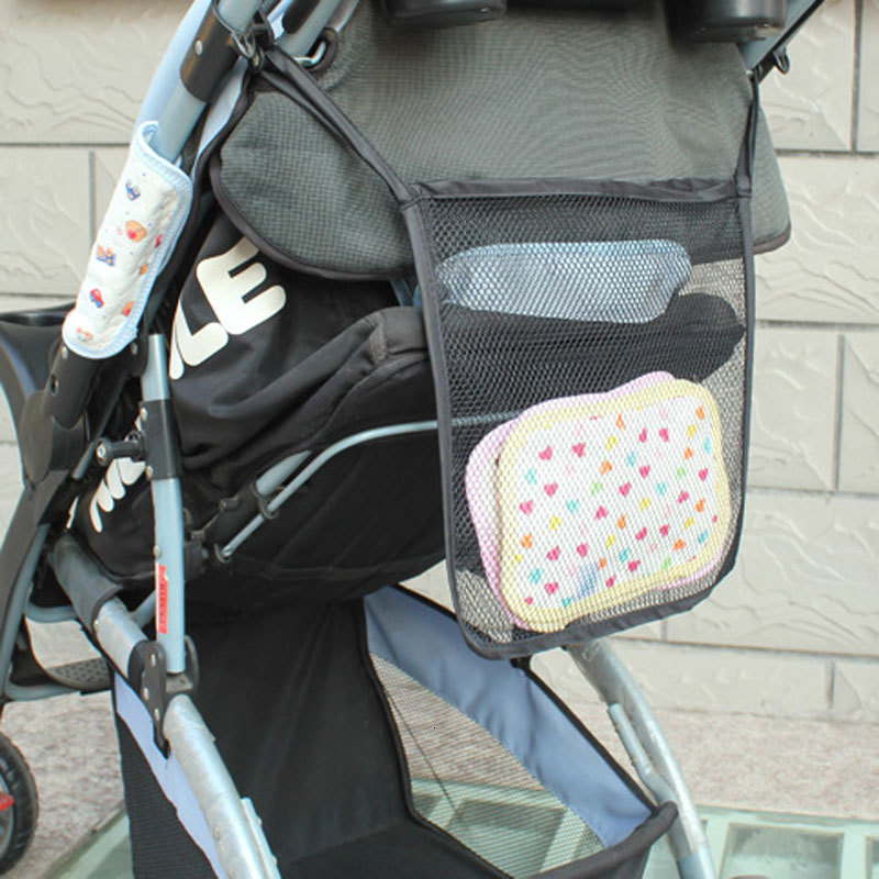Baby Kids Mesh Diaper Bags Organizer For Infant Stroller Cart Accessories Nappy Stackers Storage Bag