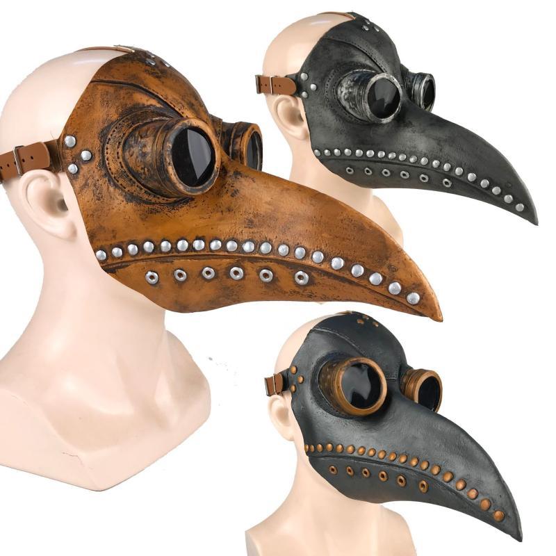 Lankater 1PCS Steampunk Rivet Mascherina di Orrore Spaventoso Mezza Maschera per Masquerade Cosplay Prop