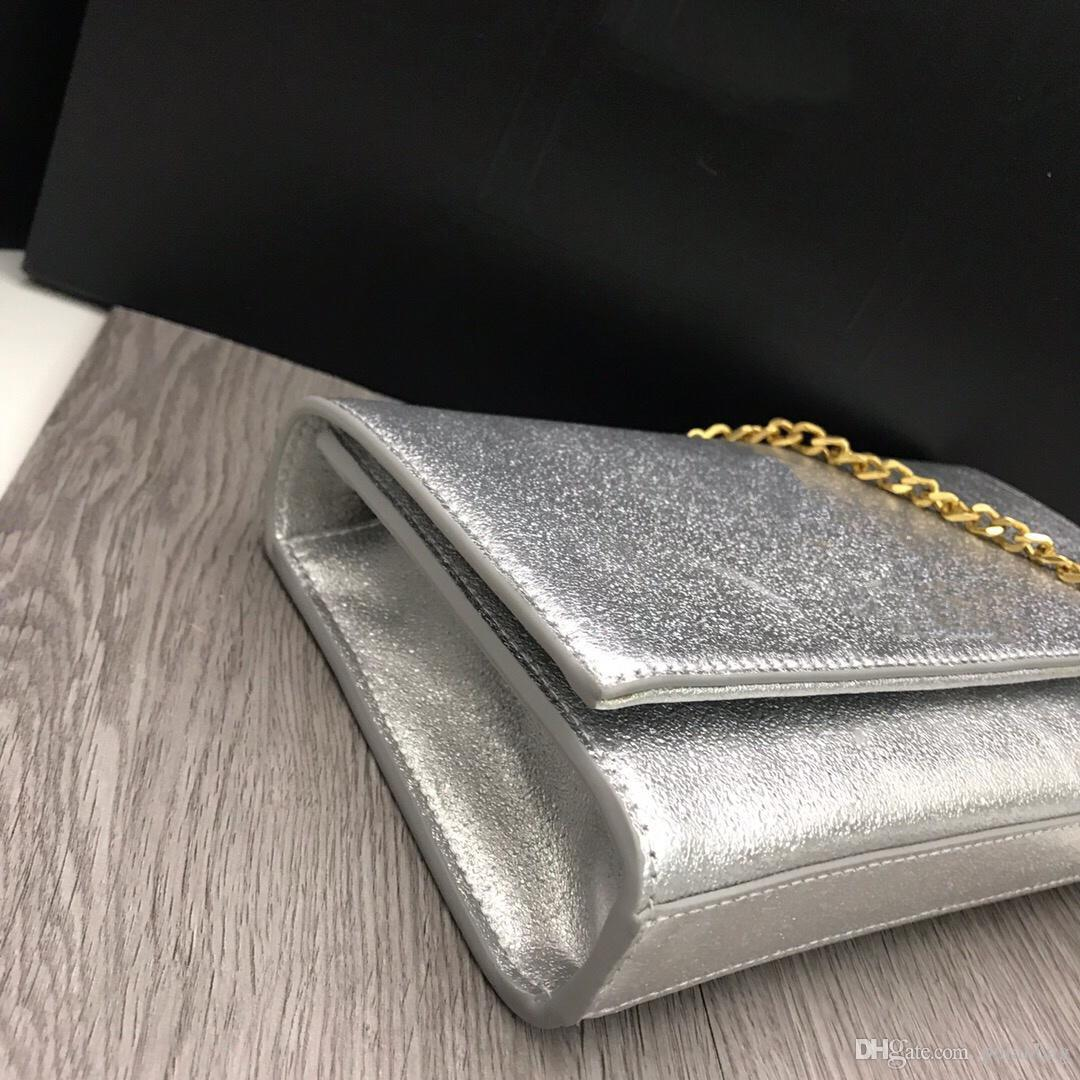 New Fashion Designer Women Handbag Purses Genuine Leather Shoulder Bag Chain Crossbody Bag Coin Pouch Clutch Small Tote bags Handbag 24cm