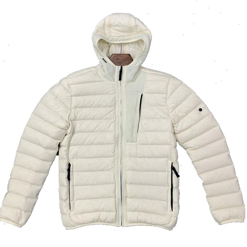 20FW heated Winter lightweight hooded down jacket casual trendy jacket Hooded cap black puffer jacket mens teddy coat Sleeveless vest