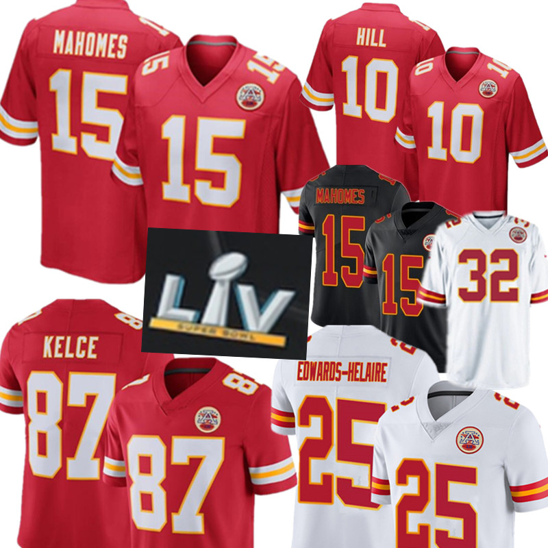 15 Patrick Mahomes 87 Travis Kelce Jersey Kansas