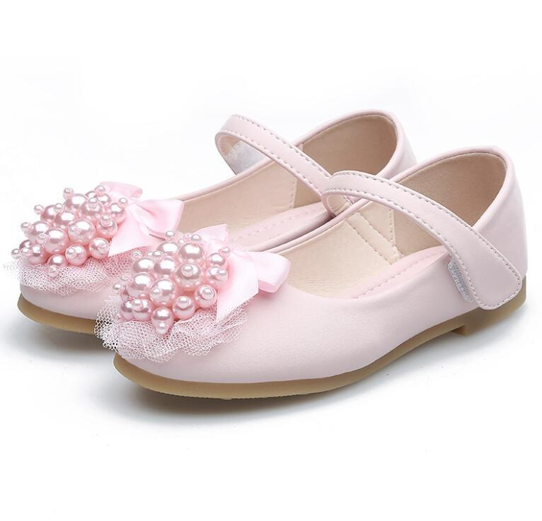 Spring and Autumn New Products Girls Dress shoes Lace Flowers Girls Small Leather Shoes Children dancing shoes 281
