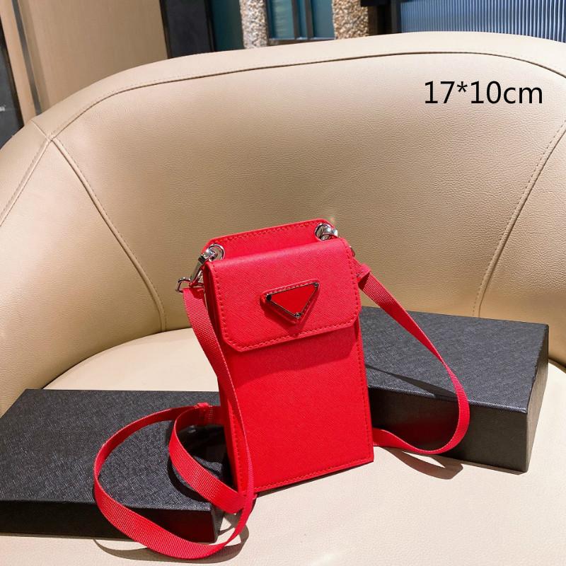 Fashion Luxury Mini Smartphone Bags Designers Mini-size Crossbody Phone Bag Single Shoulder with Triangle Small Wallets Purses Shopping Classic Cross Body