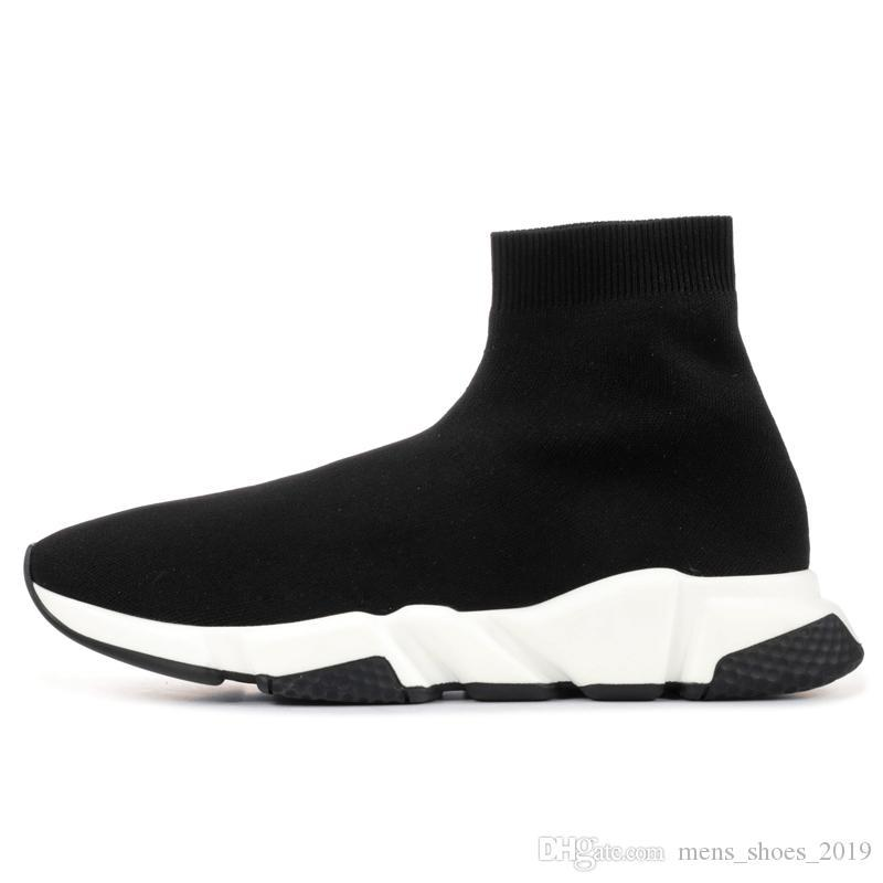 2020 Paris Trainer Black Pink platform casual sock shoes Men Women Cheap fashion triple designer sneakers high quality Eur 36-45
