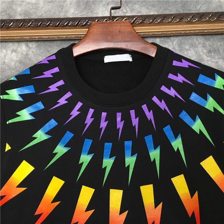 2020 Europe Luxury mens Color geometry printing hoodies Fashion sweatshirt Men womens Clothe Hoodies Designer Pullover Sweatshirt