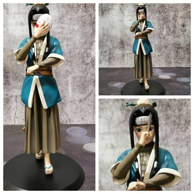 Naruto Haku Anime Figures Shippuden 22cm PVC Toy Momochi Zabuza Kirigakure no Kijin Collection Model Xmas Gift Action Figma Doll