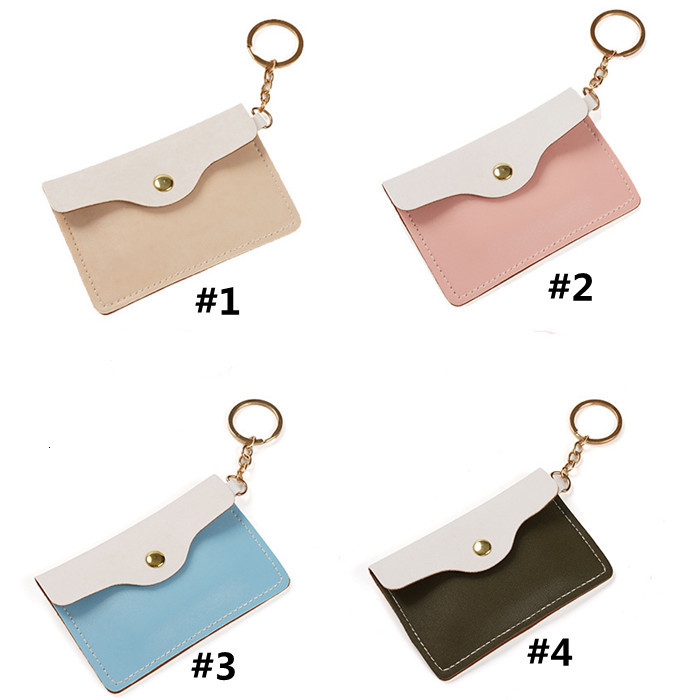 Mini Coin Purse High Quality Girl Lovely Sweet Fashion Keychain Card Holder Bag Girls wallets keychain charm Gifts YHM548