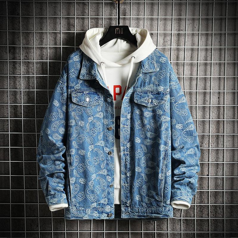 2021 Men's Oversized Autumn Winter New Woman Fashion Casual Denim Coats Korean Streetwear Male Jackets Bd8z