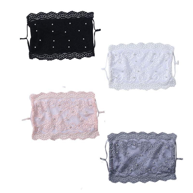 2021 Embroidery Lace New Face Mask Adult Comfortable Washable Mouth Face Cover Fashion Girl Black Party Masks Masque