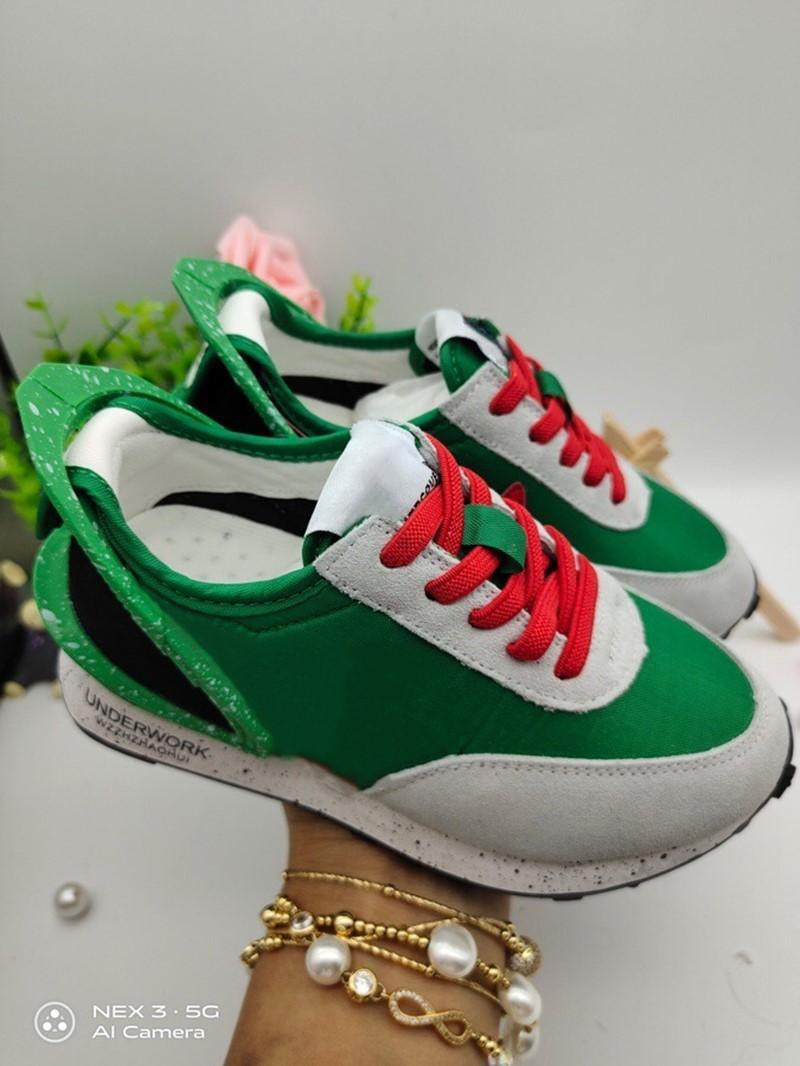 JUN TAKAHASHI Undercover Daybreak Kids running shoes Lucky Green Trianers Infant toddler athletic boy & girls sneakers University Red