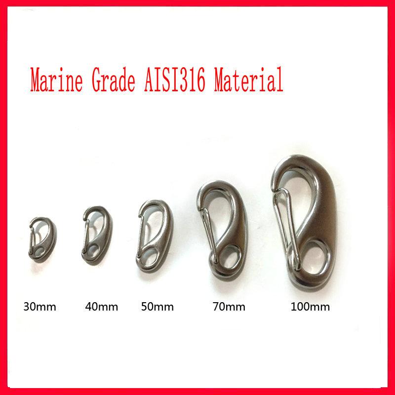 A4 Marine Grade Stainless Steel Carabiner Spring Hook Snap Clip