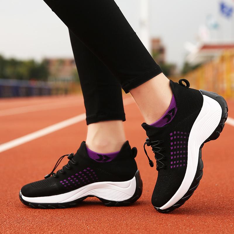 mesh breathable women casual shoes korean platform ladies comfortable sneakers high increasing female moccasins vulcanized woman (10)