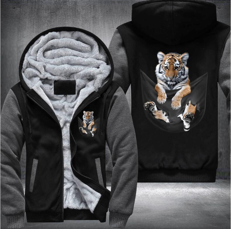Brand Mens Tiger Print Hoodie find
