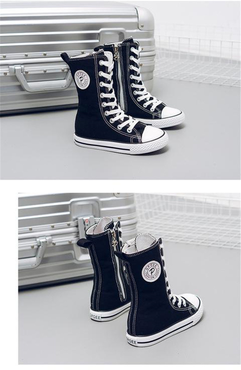 PINSEN 2019 Spring Autumn Shoes Girls Boots Cancas Childen Shoes For Girl Breathable Kids Boots For Girls Fashion Boots (14)