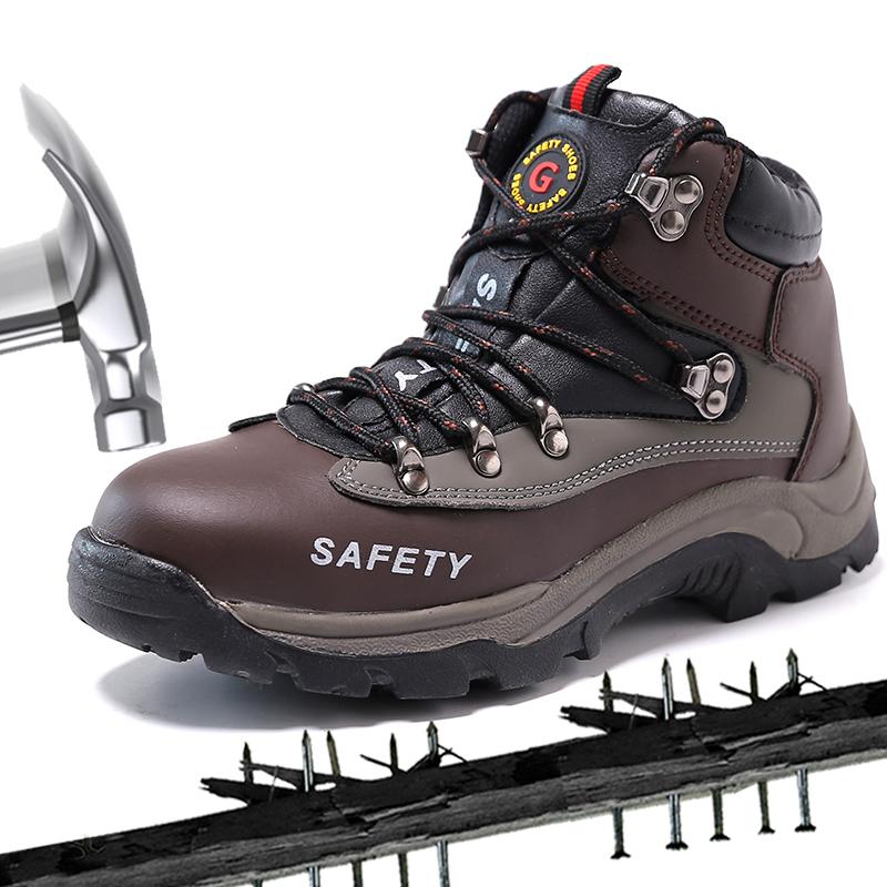 Nouveau Homme Respirant Antidérapant Acier Bout d/'éviter de ponctionner Casual travail Sécurité Chaussures