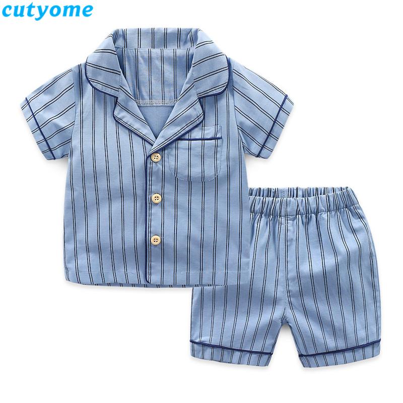 korean fashion toddler kids striped pajamas set16