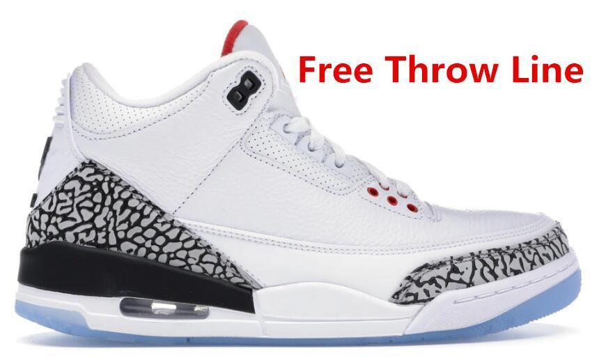 3s Jumpman Basketball Shoes red Black Cement Tinker 3 UNC Katrina Knicks Rivals 3M Reflective Designer Trainers Sneakers