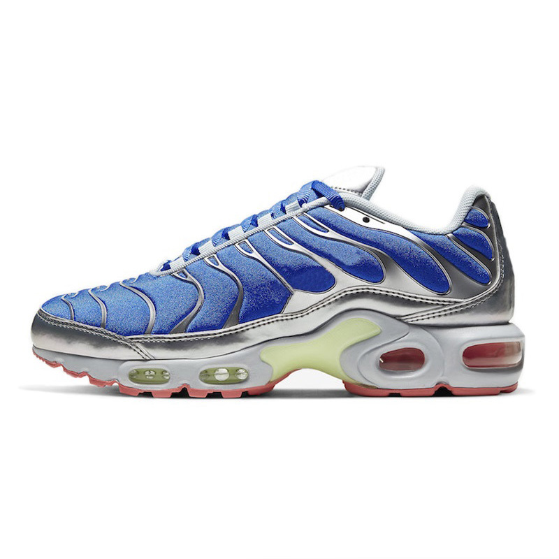 Tn Plus SE Running Shoes All Over Print Black White University Red Mens Trainers Sport Shoes Blue Silver Total Orange Tns Chaussures 40-46
