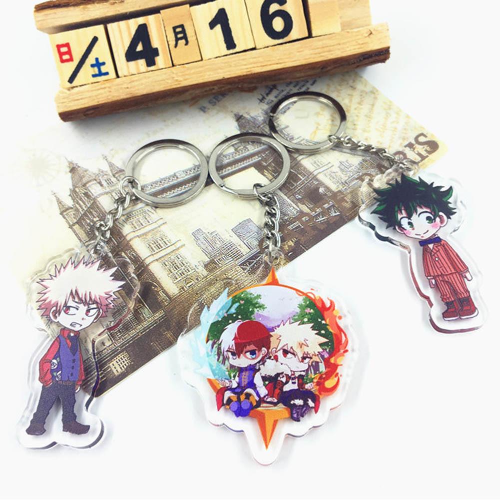 Anime Key Chain Boku No Hero Academia Acrylic Keychain Pendant Gift Jewelry Accessorie