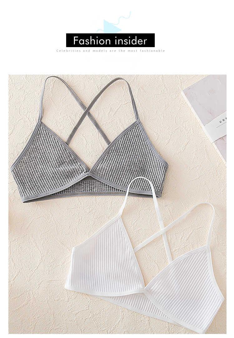 Sexy French Style Bralette Seamless Deep V Bra Thin Seamless Underwear Wireless Small Breast Lingerie Soft Bras For Women (3)