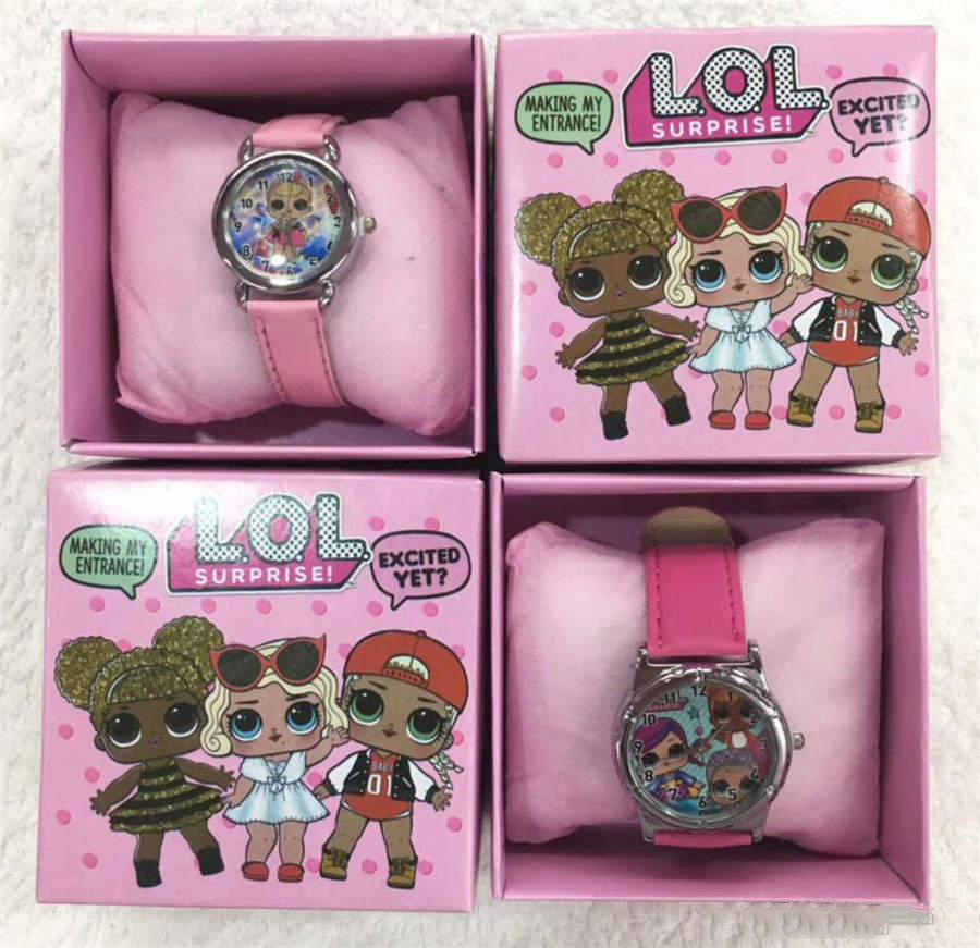 Hot LOL doll boxed watch cute cartoon electronic watch girl gift children's day birthday gift lol