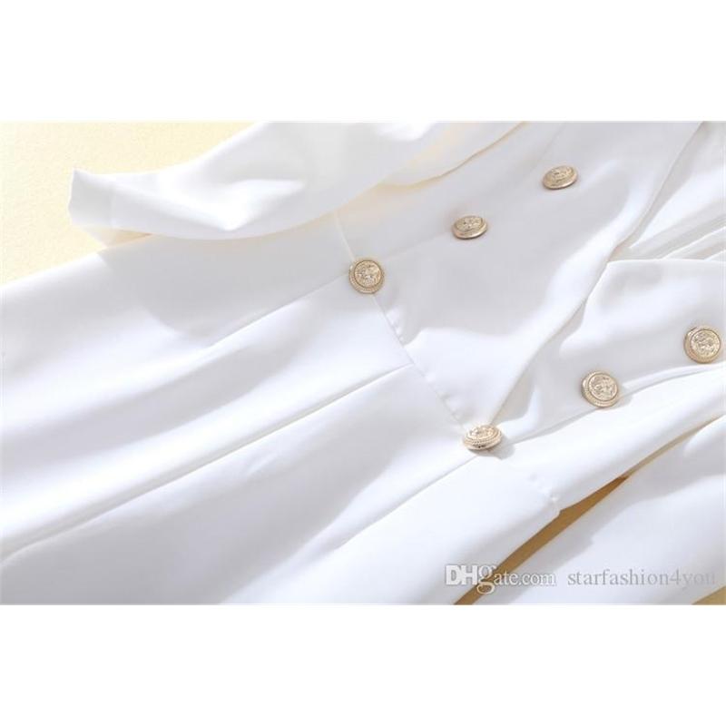 New Style Top Quality Original Design Women's Ladies Females V-neck Jumpsuit Romper Metal Buckles