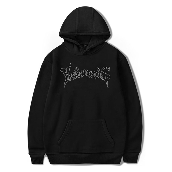 New European high quality Vetements gothic letter logo printing hoodie hip hop metal design hoodie men and women clothes casual hoodie top
