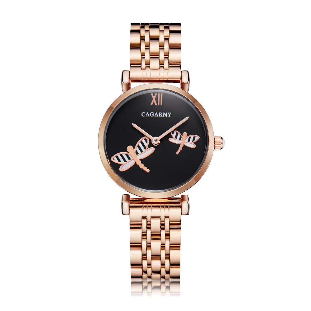 drop shipping shopify rose gold stainless steel bracelet watch for women fashion ladies quartz watches shinning diamonds female clock waterproof free shipping best gifts (4)