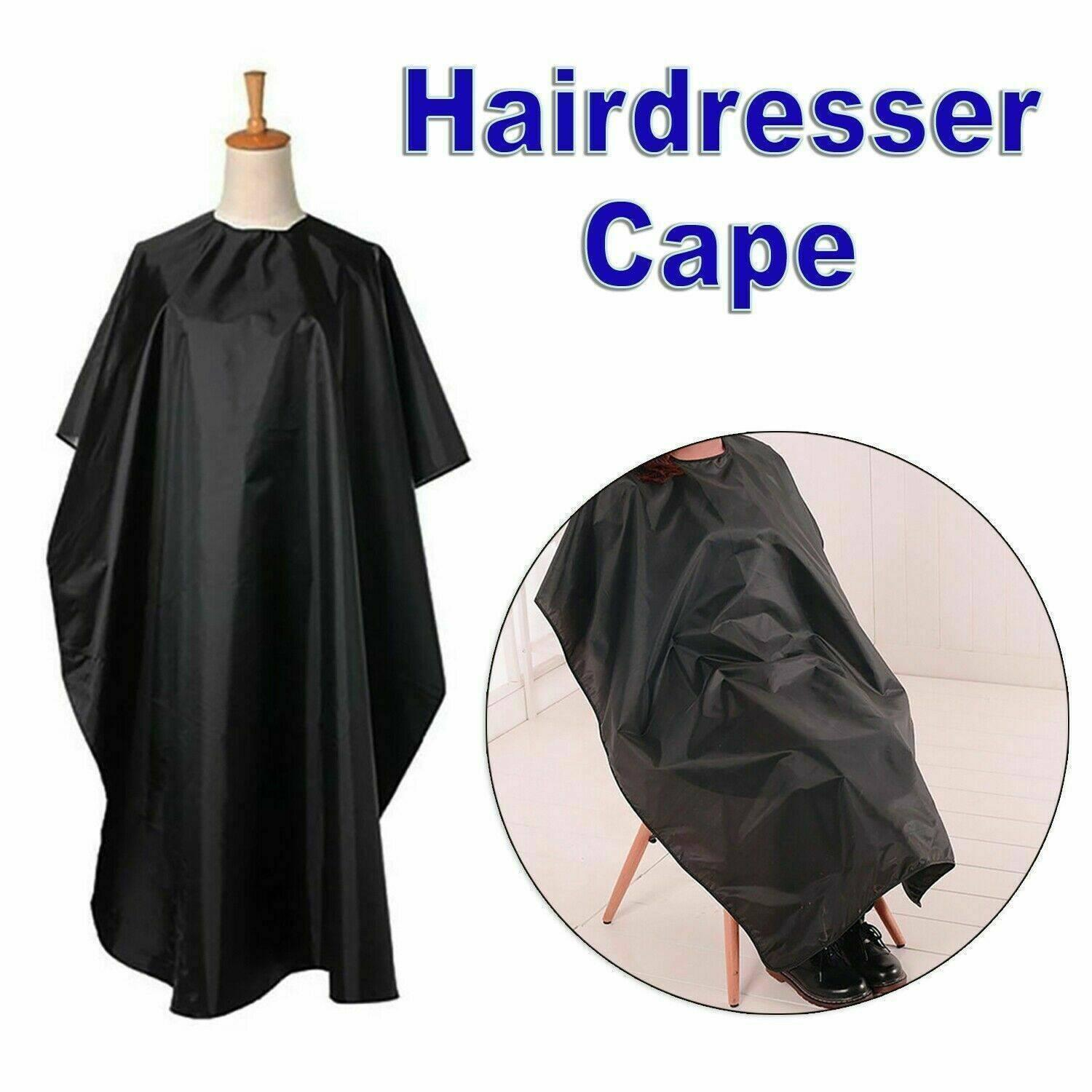 DHL 140*95cm Black Barber Cape Convenient Fold Hair Cut Hairdressing Gown Cloth Styling Tools Hairdresser Supplies Waterproof FY4080