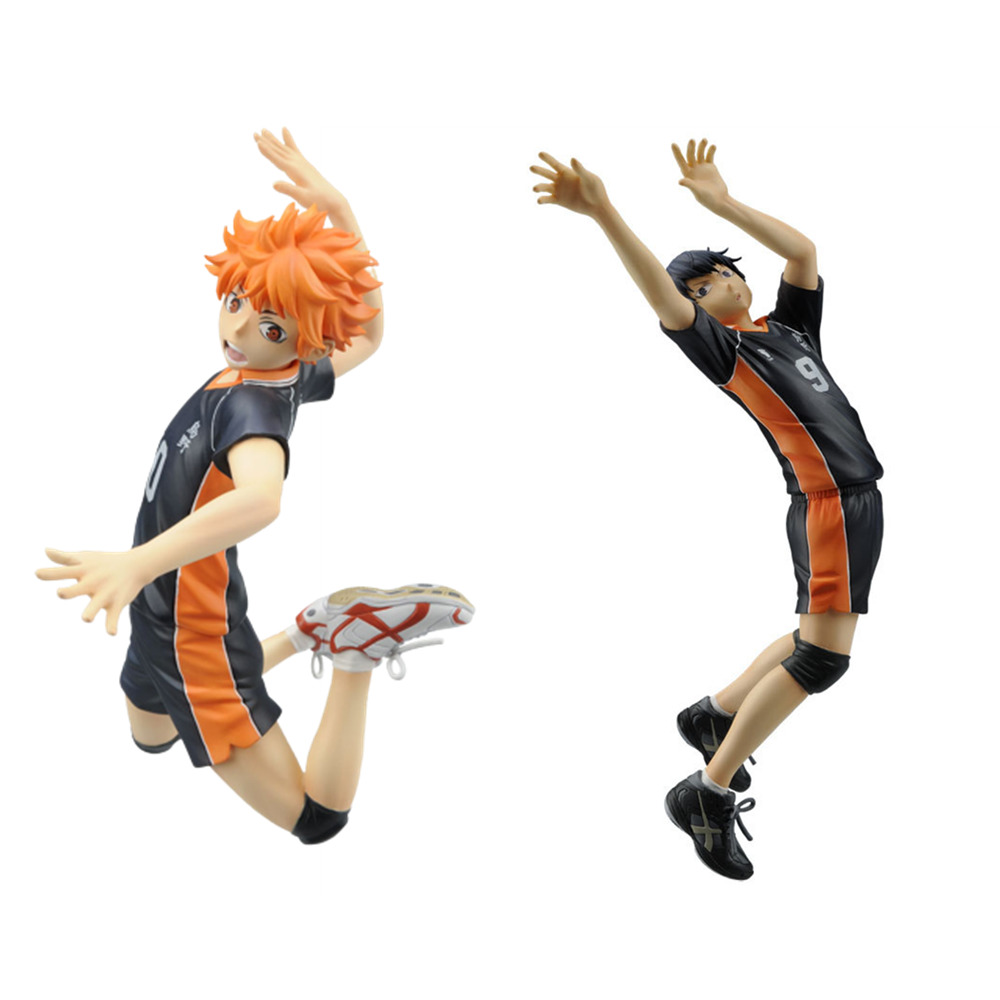 Action Figures Haikyuu Kageyama Tobio Hinata Shoyo Play Volleyball PVC Toys Syouyou Anime Figma Model Brinquedos Model Juguetes