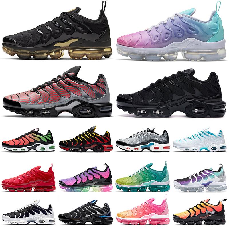 nike vapormax plus tn air max airmax vapor zapatos para correr mujeres  hombres Triple Negro Blanco Rosa Rise REGENCY PURPLE LEMON LIME Volt  Megatron ...