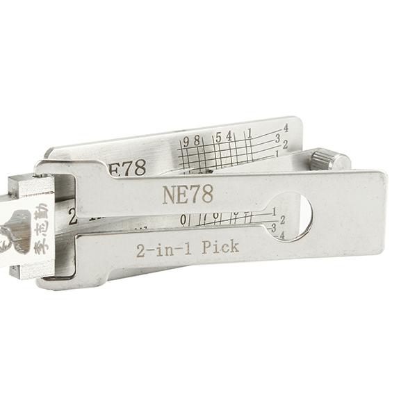 NE78 2 in 1 Car Door Lock Pick Decoder Unlock Tool Locksmith Tools
