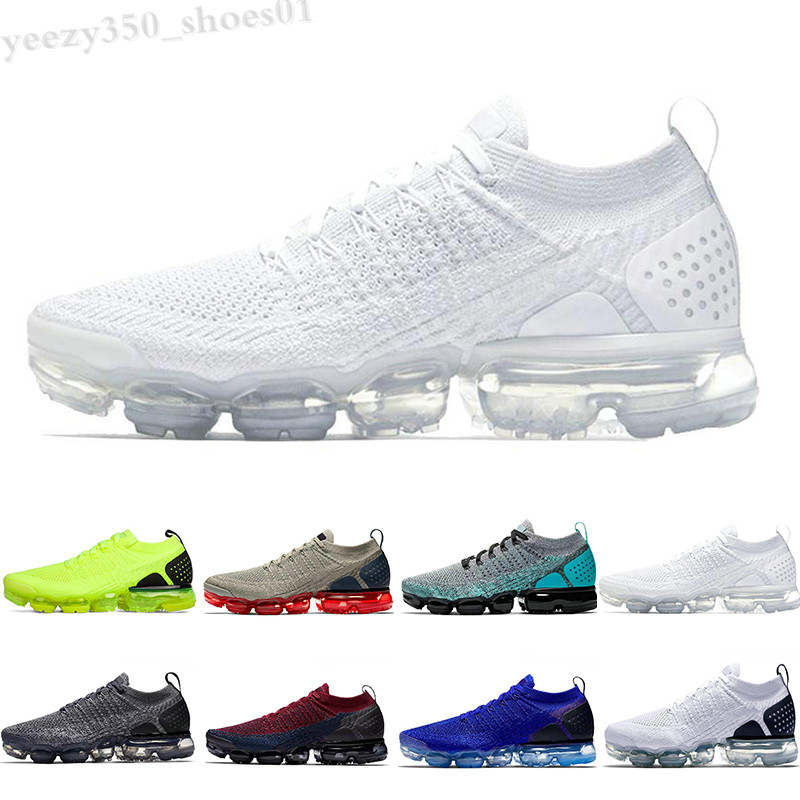 2019 Mens Womens Shoes FLY Moc 2.0 Yellow Cushion Tennis Shoes Triple White Black Red Orbit Sports Designer Trainers 36-45 WB06