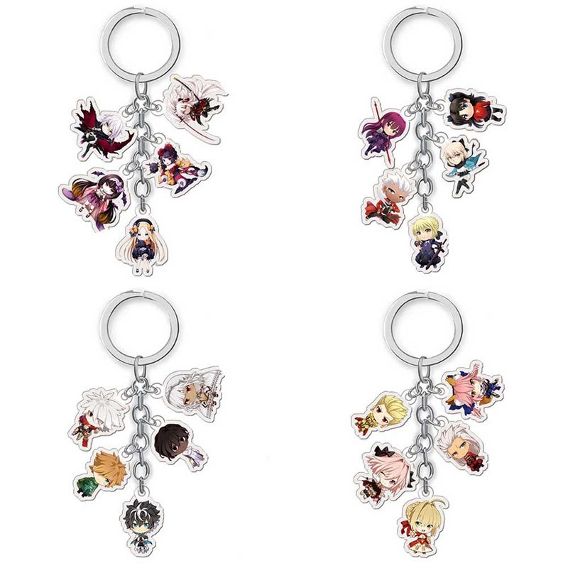 Anime Fate Zero Keychain Cartoon Figure Fate Stay Night Car Key Chains Holder Best Friend Graduation Christmas Day Gift
