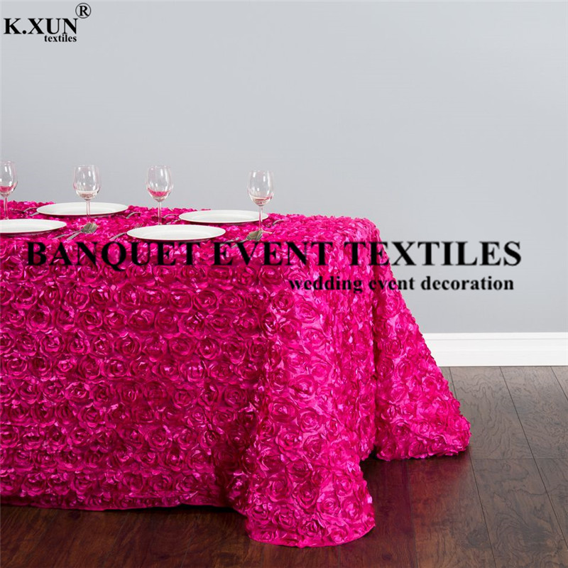 88130-060487-88-x-130-in.-Rectangular-Rosette-Satin-Tablecloth-Fuchsia_main