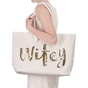 Wedding Bride Tote Bridal Shower Gifts Shoulder Bag Honeymoon Beach Bag