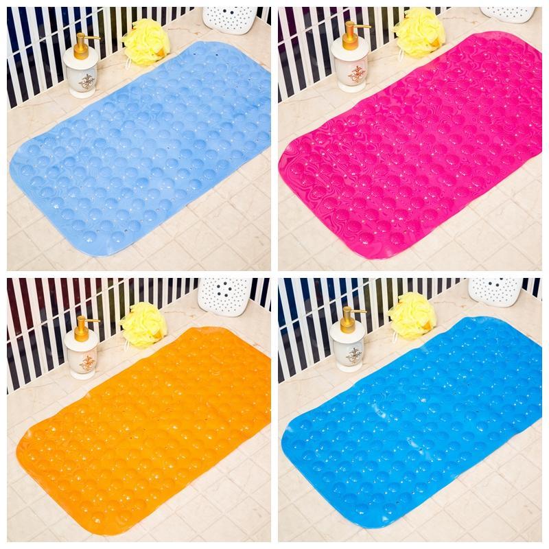Non Slip Bath Tub Mat Anti Slip Medium Shower Transparent PVC Carpet Oval Pad