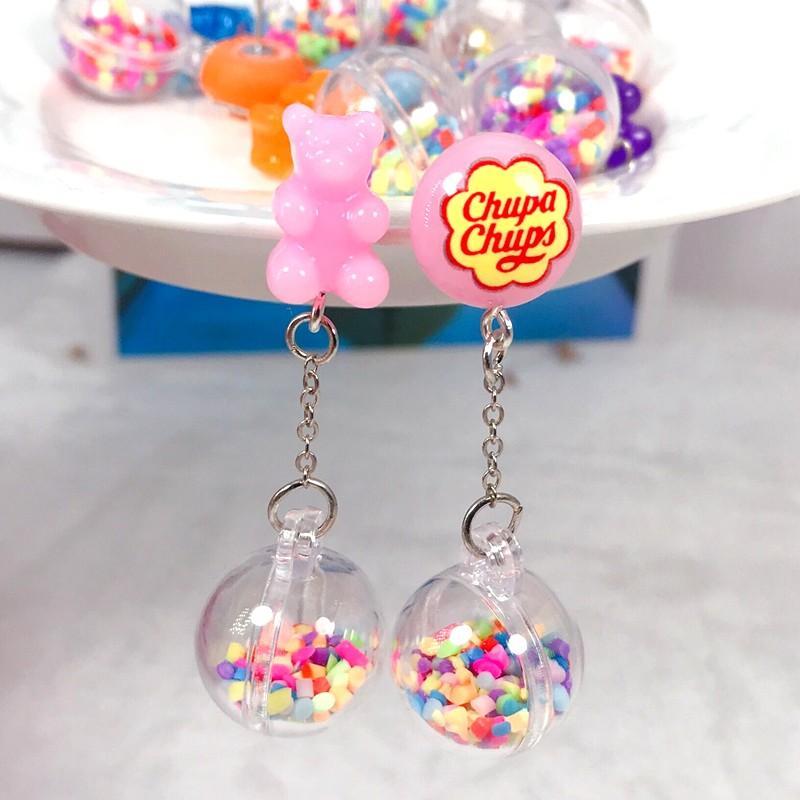 M/&ms pendientes de-Resina de cara Funky Pendientes De Alimentos Dulces Candy