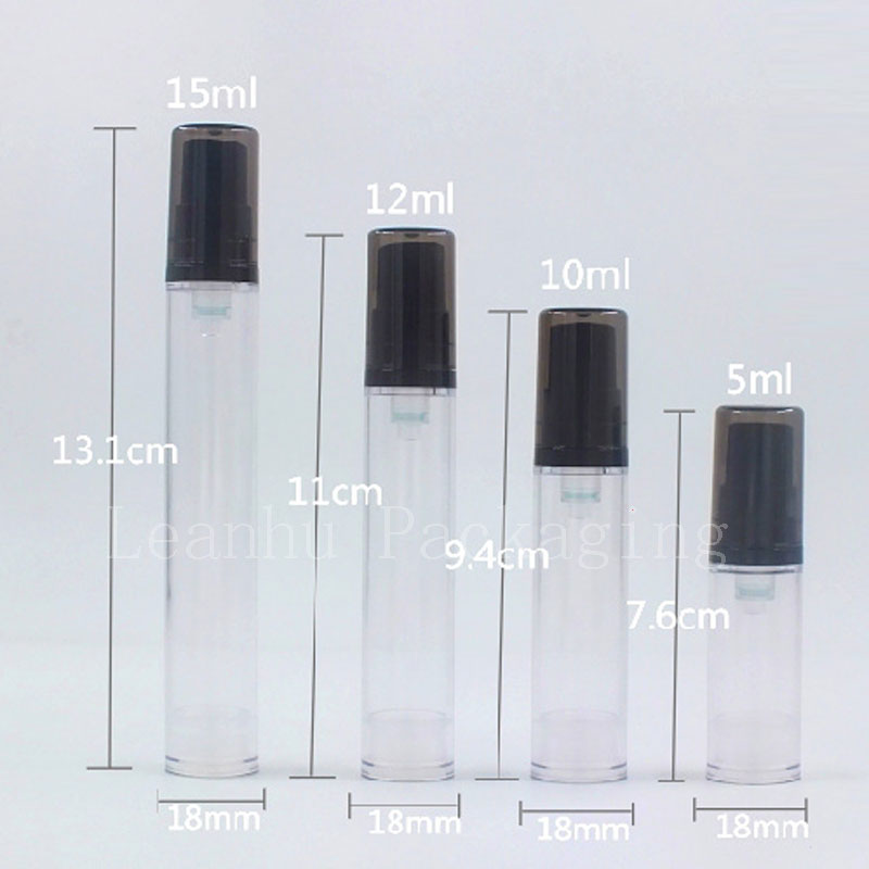 5ml 10ml 12ml 15ml transparent black airless bottles (5)