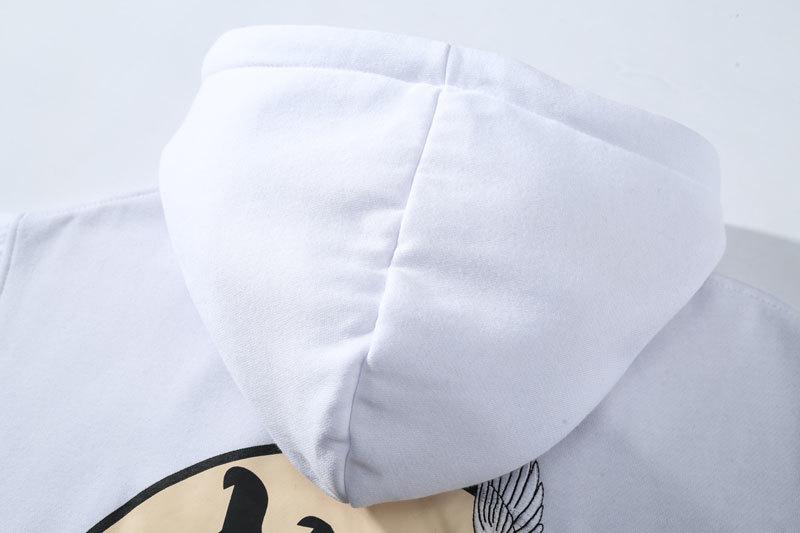 Embroidery Japanese Cranes Pullover Fleece Hoodies 10