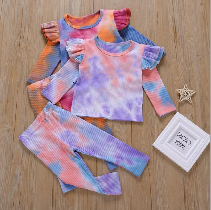 Baby Clothes Tie Dye Clothing Sets Long Sleeve T-Shirt Trousers Suits Boys Girls Casual Clothes Spring Autumn Baby Gril Clothing Set LSK761