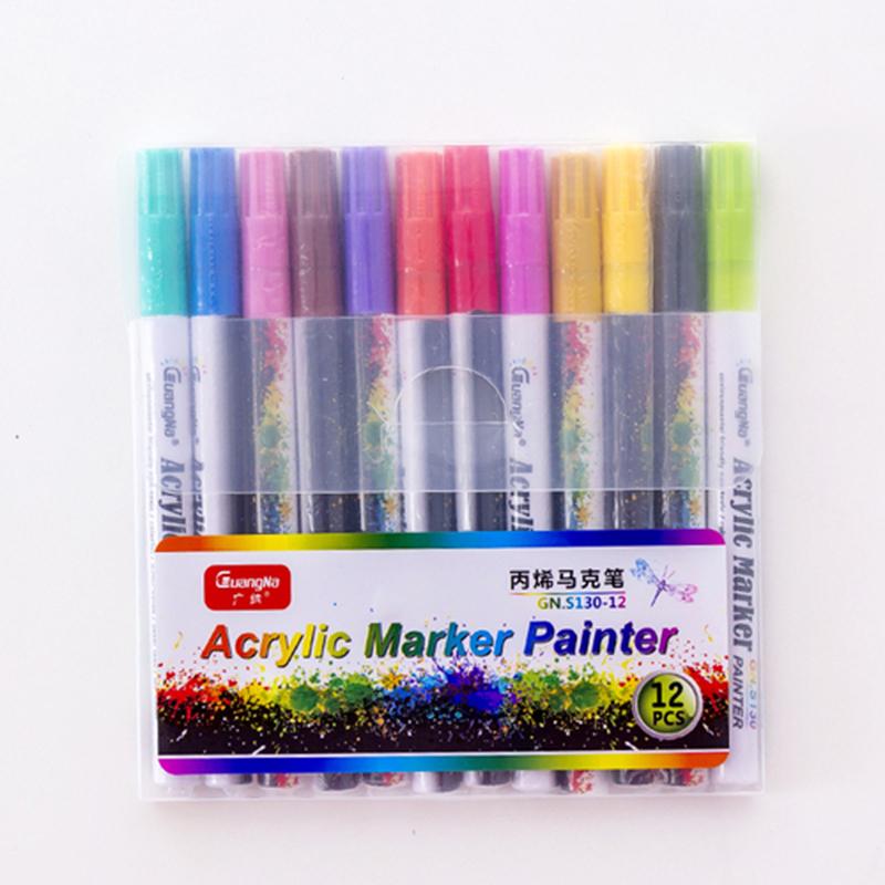 18 ColorsSet 0.7mm Acrylic Paint Marker pen for Ceramic Rock Glass Porcelain Mug Wood Fabric Canvas Painting Detailed Marking (29)