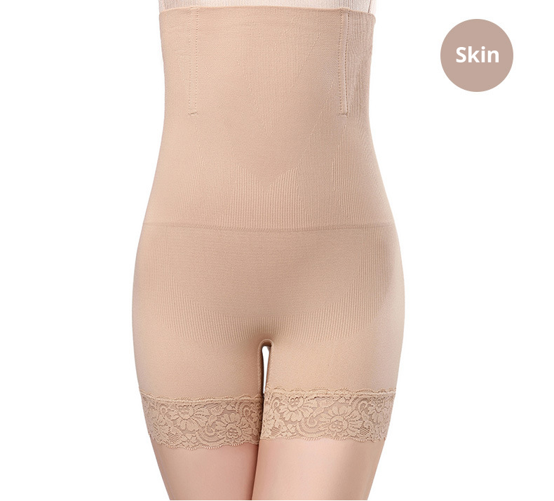CXZD Seamless Women High Waist Lace Shaping Panties Breathable Body Shaper Slimming Tummy Control Knickers Pant Shapewear Underwear (8)