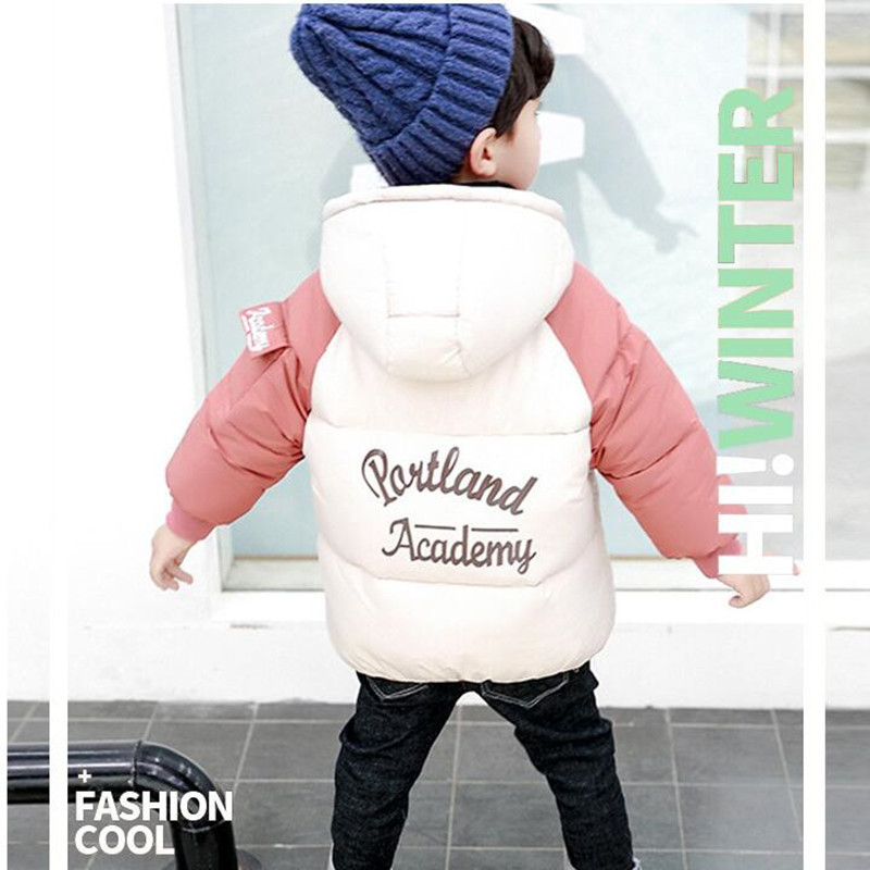 2020 Winter Boys Jackets Kids Hooded Outerwear Autumn Baby Boy Warm Jacket Children Clothing Baby Girls Outerwear Coat Jacket (3)