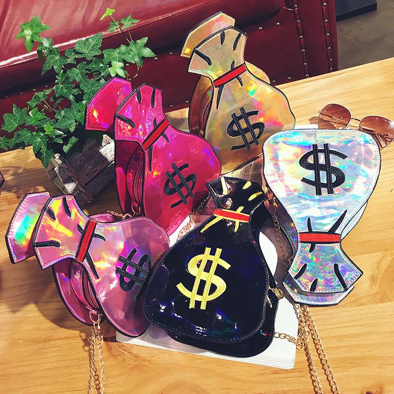 3D Dollar Laser Design Bolsa Feminina Handbags Women Bags Designer Handbag Women Clutch Crossbody Girls Shoulder Messenger Bags
