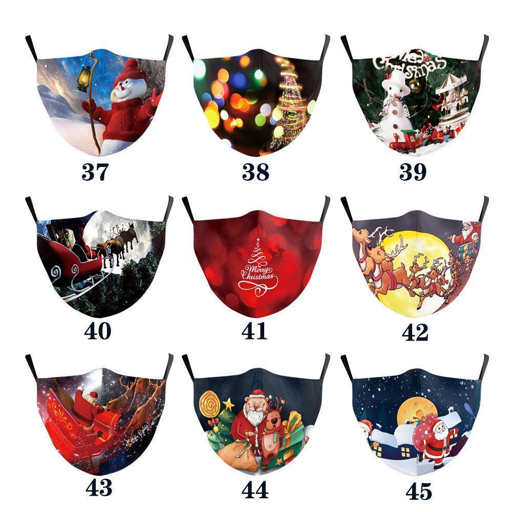 Christmas mask digital printing protective adult washable PM2.5 filter Christmas decoration fashion fashion designers face masks mascherine