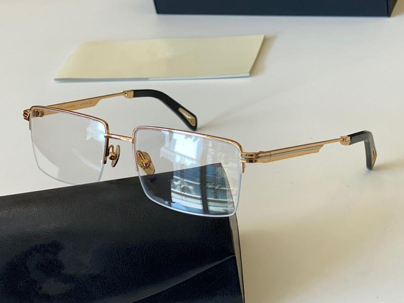 THE ACADEMIC II New style men fashion top optical glass square metal half frame goggles top quantity outdoor uv400 fashion with packing box